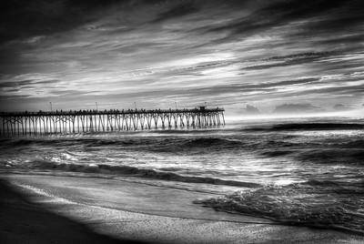 Best Kure Beach Pier Photos B&W