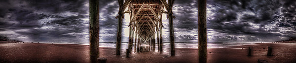 artistic photo of surf city pier