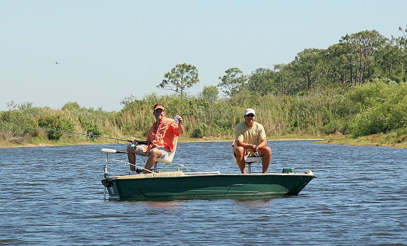 Rub a dub two men in a tub.  Fishing the creek Corey Boat Style with a cool one to beat the heat.