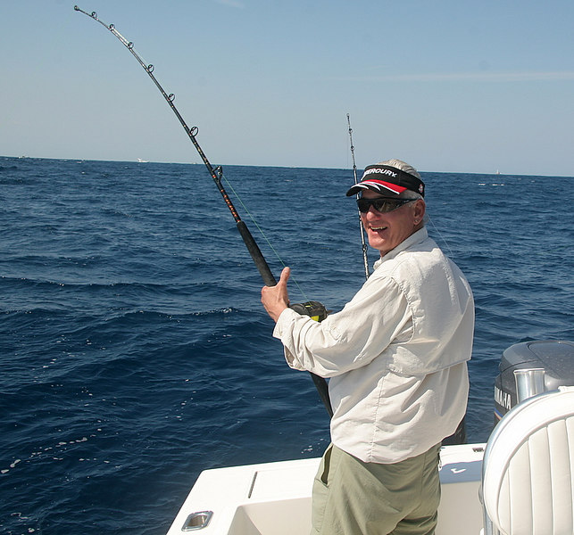 Captain Al took the rod a couple of times but had a much better time running Paul's 26 Regulator and working the lines and the bait.