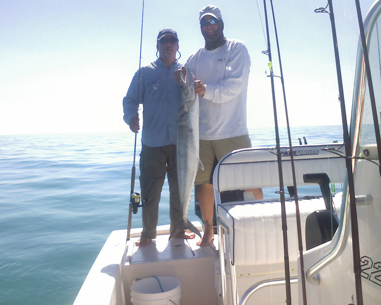 We are catching big king mackarel out of Marco fishing with Wes Little Apt. Dave Zarrello and Wes's father-in-law Tom.<br /> <br /> Captain Al Lorenzetti