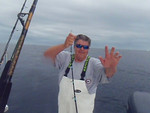 Roger had a nice fish too. Some video clips follow of Roger, Dave and Al having fun with the tuna.