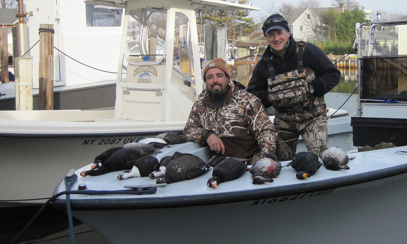 Jeff and George with some nice Sea Ducks taken around 12/4.