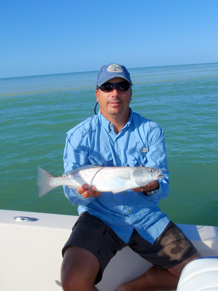 Nice trout. We had trout to over 5 pounds. It was great fishing in Caxambas Pass.
