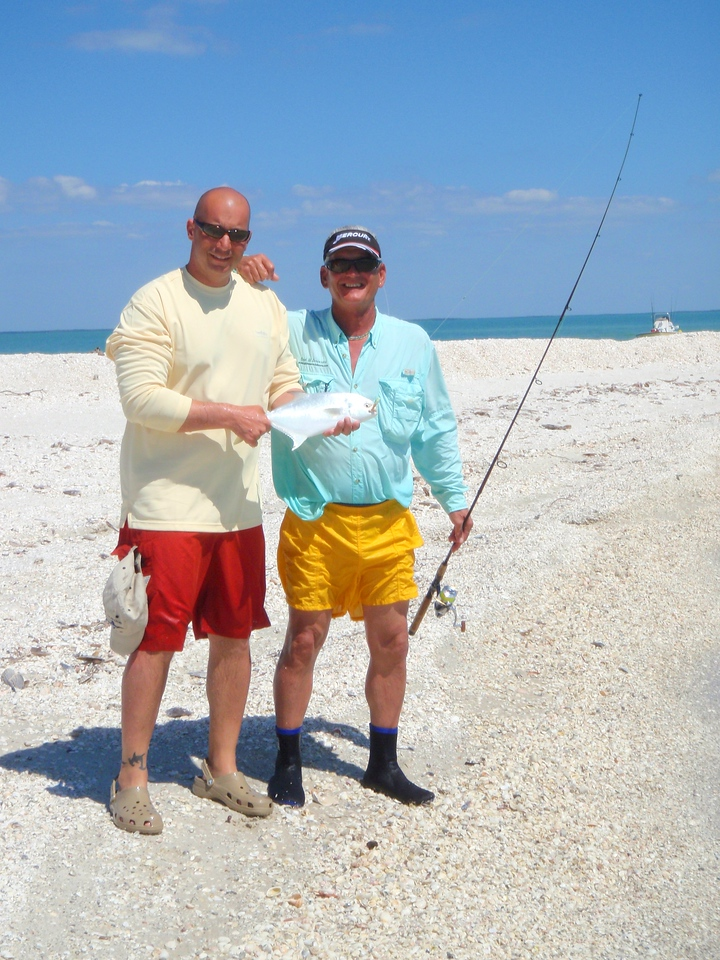 This was a nice fish of about 3 pounds. We took them to Pelican Bend on Isle of Capri and they sauted them for us. It was an awesome dinner.