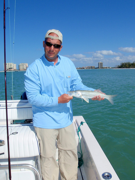 Dave with small snook.