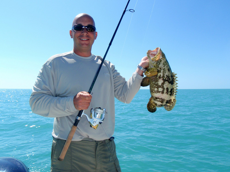 Dave with a nice grouper.