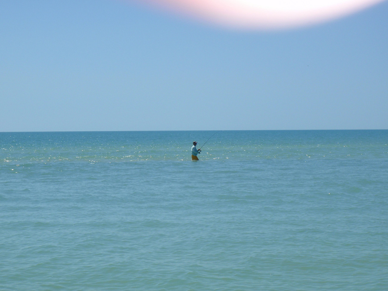 We did some wade fishing on the sand flats off of Cape Romano.
