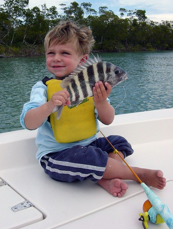 Nothing like a little sheepshead fishing to round out the day.<br /> <br /> Captain Al Lorenzetti