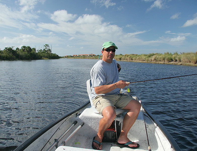 This is a good look at the Creek.  We troll rattle traps on the way to the fishing area and usually land a few nice largemouth bass.  We had a good day catching tarpon, talapia, oscars but no snook.<br /> <br /> Captain Al Lorenzetti