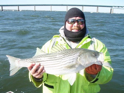 10/21/2006<br /> <br /> I fished the Kismet Inn tournament with Mike McGrath and Anthony DeBlasio. The wind was horrendous and made fishing real difficult. We managed only one Bass on a live Bunker and that striper was not much larger then the bait itself. The festivity's at the Inn after the tournament was the highlight of the day.<br /> <br /> Tim C. Smith