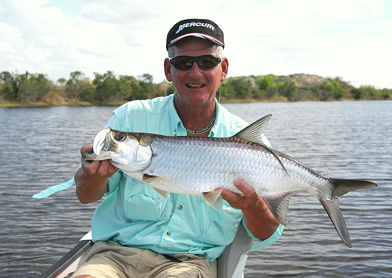 We did land small tarpon which are spectacular in the back bay setting fishing with light tackle and beautiful surroundings.