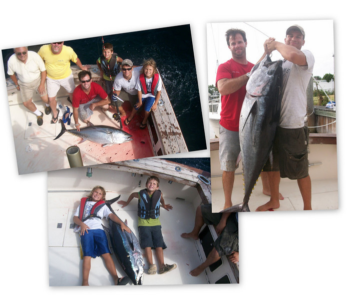 """10-21-2010<br /> <br /> We had an incredible day jigging Bluefin Tuna  44 miles southeast of Fire Island Inlet on my friend Chris Carangi's boat """"Comanche"""" . Our crew was Chris's son Nick and my two boys Jake and Max along with Pete Mercier & Tommy Hoyler. Our biggest fish was 91 pounds and all fish were caught on  Pink jigs.<br />  <br /> Jack Albanese"""