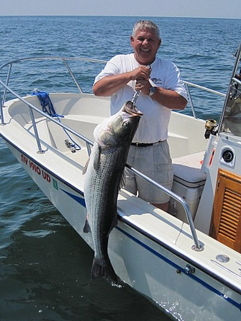 6-22-2010<br /> <br /> I fished with Nick Santos today and we had 9 fish to 47lbs<br /> (unofficial weigh in) and we also were able to successfully release<br /> this fish.<br />      Ray Bartlett<br />    The UPS Store Babylon and Long Beach