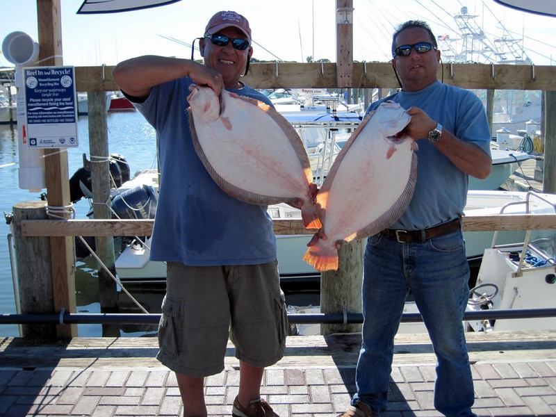 Les Gobler and I closed the Fluke season at Montauk. Fishing the south side of the point in front of the Radar tower we scored with somefanatic fishing. Here we are at Star Island weighting in fish of 8.4 and 9.9 lbs. These where the 2 biggest of some of the 12 keepers we<br /> had on Monday 9/6/10 most fish averaged in the 6lb range and accounting for 2 more in the 7lb class. Just a note here I have done this for some 10 years now and have account for 3 10lbs on this same week in the same spot.<br /> <br /> Ray Bartlett<br /> The UPS Store