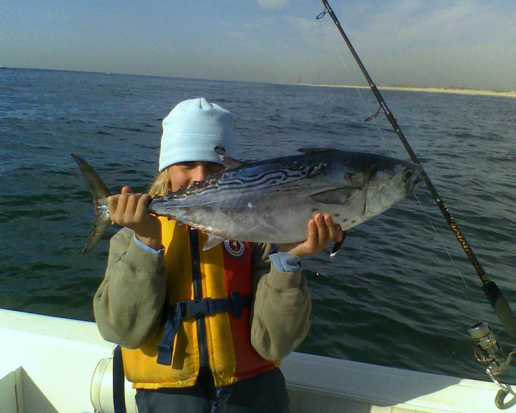 Date Caught: october 11, 2010<br /> <br /> Location: ocean, south of needle 50ft of water<br /> <br /> Photo Description: colin's first albie