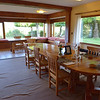 Dining room at Rio Manso Lodge.