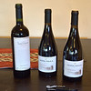 Wines set out for dinner the first evening at Rio Manso Lodge.