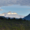 Tronador in early morning light as seen from our room at Rio Manso Lodge.<br /> Wednesday January 9, 2013