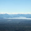 View from the plane on final approach to Bariloche. We see Lago Nahuel Huapi backed by the Andes, with Bariloche on the left.<br /> Tuesday  January 8, 2013
