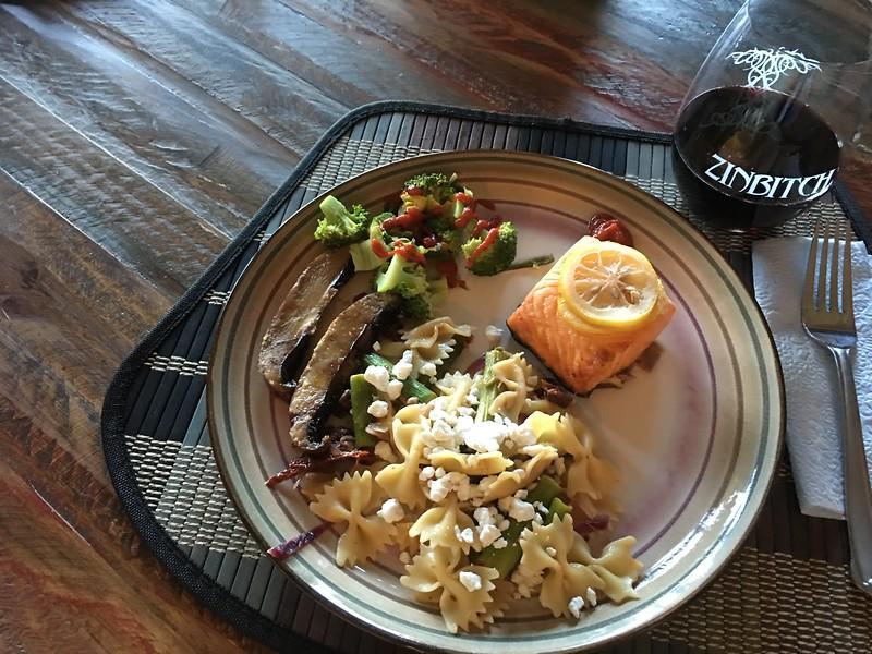 Aug 14, 2016  Made Salmon, pasta and portabello mushrooms