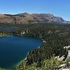 Pano: Lake George and Lake Mary in front of the Sherwins, with Crystal Crag on right