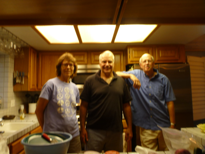 Got an invite for dinner - Christine, Jeff, Ron (camera wasn't cooperating)