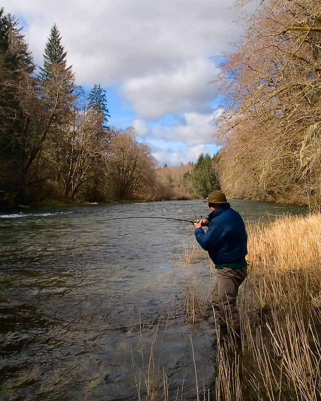 Snap-shot gallery of images from two days of fishing on the Sol Duc River near Forks Washington on March 25th and 26th, 2006 (Hatchery to Maxfield's drift.) Images include a large buck steelhead, underwater steelhead shots, and a fish catching bald eagle. Images have been cropped and batch processed for display on the web. All files are Copyright © 2006 J. Andrew Towell Please contact me at troutstreaming@gmail.com to negotiate for any and all usage rights.