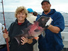 "Jeanne with a nice sheepshead, or as Bill would say, ""Lambshead"". :-))"
