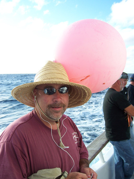 Chris Voge and pink hat.