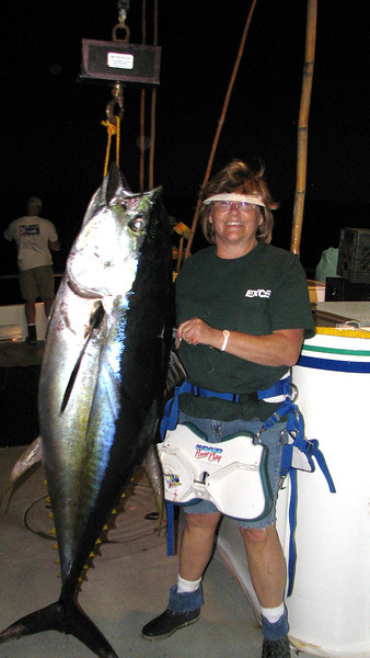 Jeanne and her 141 lb Tuna.