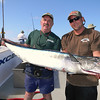 Doug Moore w/first and largest Wahoo caught on trip.