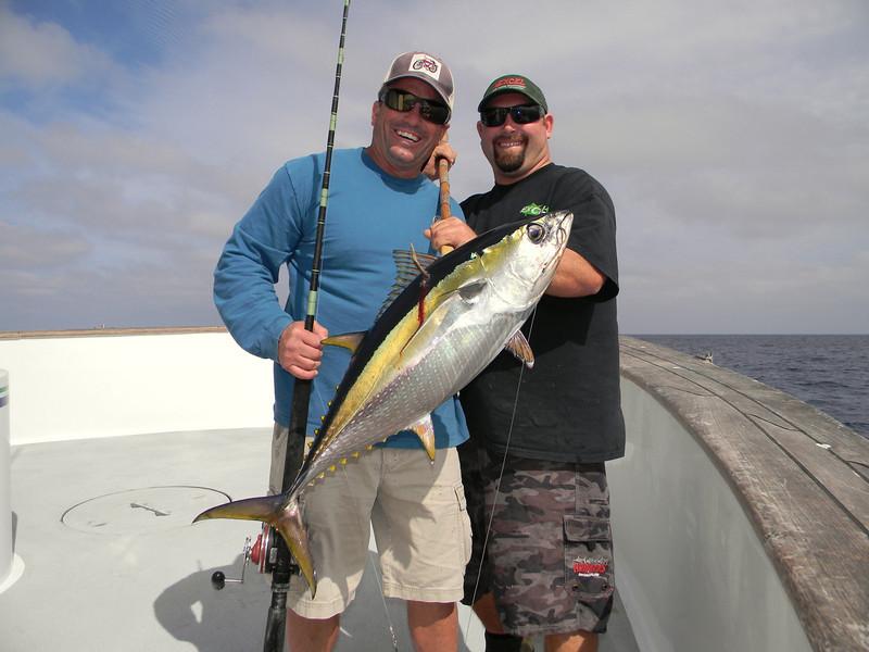Steve Martin w/yellowfin tuna.