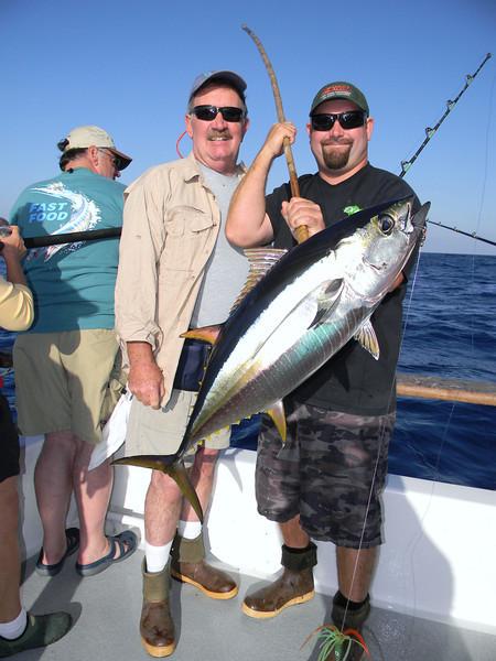 Doug Moore w/yellowfin tuna.