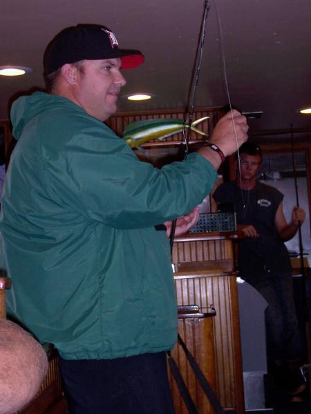 Captain Justin Fleck giving a tackle seminar.