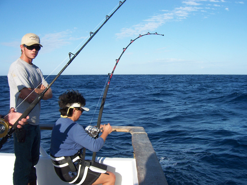 Gail putting the hurt on her Tuna.