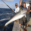 Ron Moy with his Tuna. The jackpot fish until we finished a full kite rotation. :-(