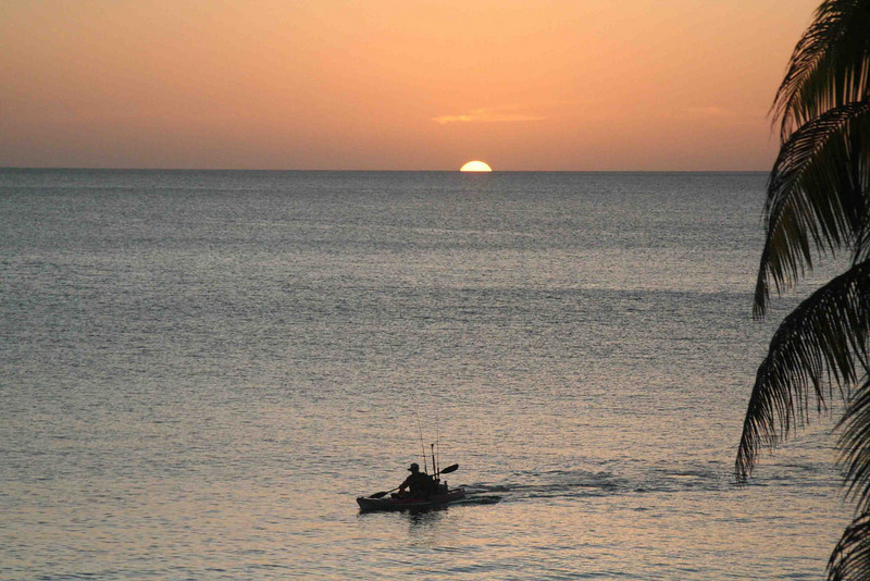 Kayak fishing the Caribbean, living the dream.
