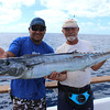 Paul Viale and Rene with a wahoo