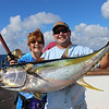 Jeanne and Jeff with her Yellowfin tuna.