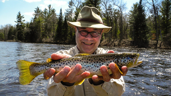 What happens on the AuSable River, stays on the AuSable River...unless of course you really do hook one up! Nice Brown for the 2013 Trout Opener. Day #60.