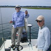 Doug Livermore MD with Capt Dan Marin in Pleasant Bay