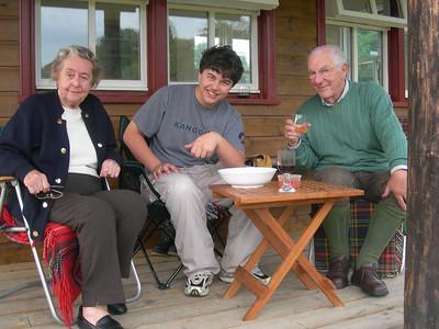 Barbara Barraclough, George Donkin and Alan Barraclough