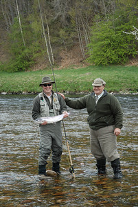 Bryan Kruse with his first salmon