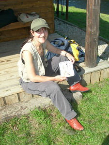 Gillian Donkin with her fly box.