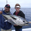 Jeanne with a nice Bluefin.  One of four she caught. She was the high angler on the boot with 4 bluefin!!