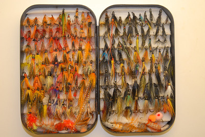 Summer salmon fly box.