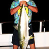 Brad with 41 lb Yellow Tail.  Biggest YT caught on trip.