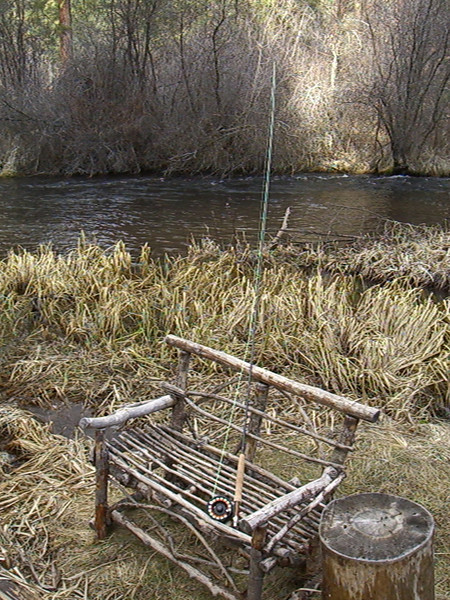 Bench on the Metolius