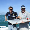 Harry gets a hand from Mike to hold up his catch. Nice work Harry!
